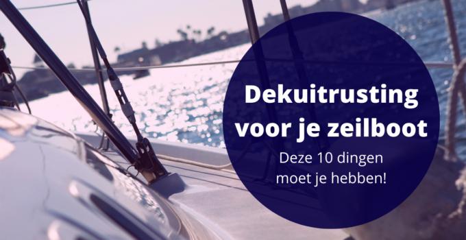 dekuitrusting zeilboot